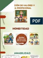Educación de Valores y Ética Profesional