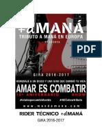 RIDER TÉCNICO +d MANÁ GIRA