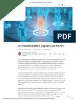 La Transformación Digital y Los RR.hh