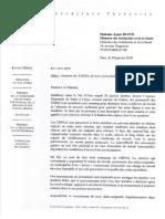 C003-18AR - Courrier à La Minsitre Des Solidarités Et de La Santé - Siutation Des EHPAD