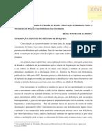 ALMEIDA, Késia. Subalternidade, Hegemonia e Filosofia Da Práxis - Observacões Preliminares Sobre o Movimento de PCD Em Uberlândia