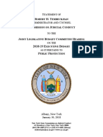 2018-19 Legislative Budget Hearing Testimony of Robert Tembeckjian of the New York State Commission on Judicial Conduct