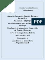 Universidad Tecnológica Mexicana Entregable 1