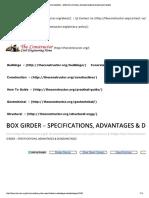 Box Girder – Specifications, Advantages & Disadvantages