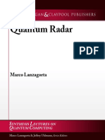 (Synthesis Lectures on Quantum Computing) Marco Lanzagorta-Quantum Radar -MC (2012)