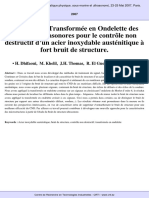 Analyse Par Transformée en Ondelette 10èmes Journées Japsus (Acoustique Physique, Sous-marine Et Ultrasonore), 23-25 Mai 2007, Paris.