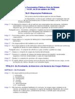 Estatuto_Funcionarios Publicos Civis Do Estado_Lei 10.261