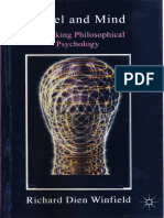 Richard Dien Winfield Hegel and Mind Rethinking Psychology