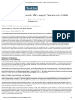 Evaluation of Asymptomatic Microscopic Hematuria in Adults - American Family Physician
