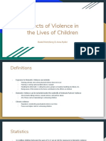 violence in the lives of children