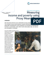 Measuring Income and Poverty Using Proxy Means Tests