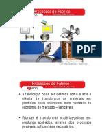 Processos de Fabrico