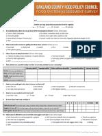 Food System Assessment Survey