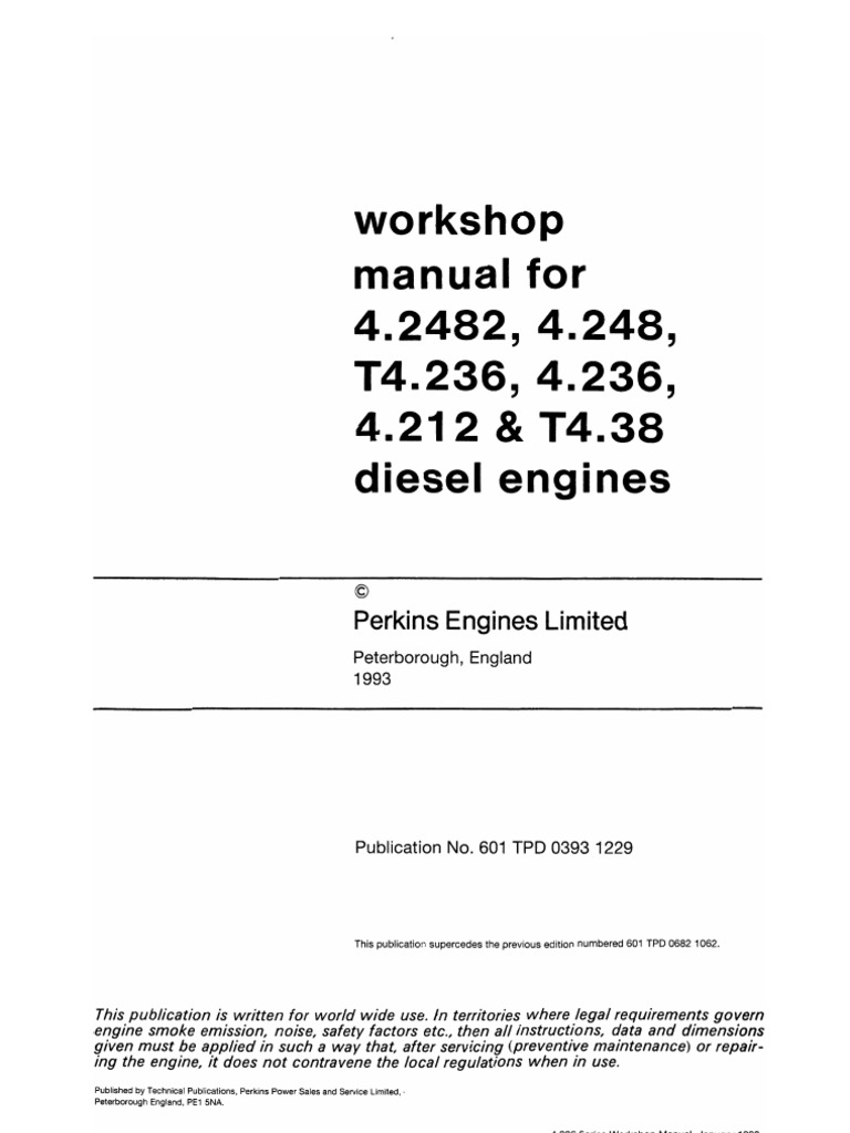 workshop manual perkins 4 236 rh scribd com Perkins Diesel Engines Cummins Engine Logo