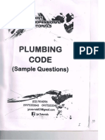 Plumbing Code (Sample Questions) r - Copy