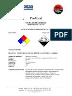 Hoja de Seguridad - Cal Hidratada-Hidroxido de Calcio