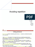 Avoiding Repetition