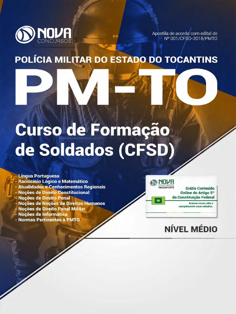 Apostila PM-To - Curso de Formação de Soldados (CFSD) (2018) - Nova  Concursos 4d24fe837e47c