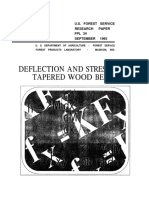 Deflection and Stresses of Tapered Wood Beams