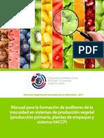 Manual Para La Formación de Auditores de La Inocuidad en Sistemas de Producción Vegetal