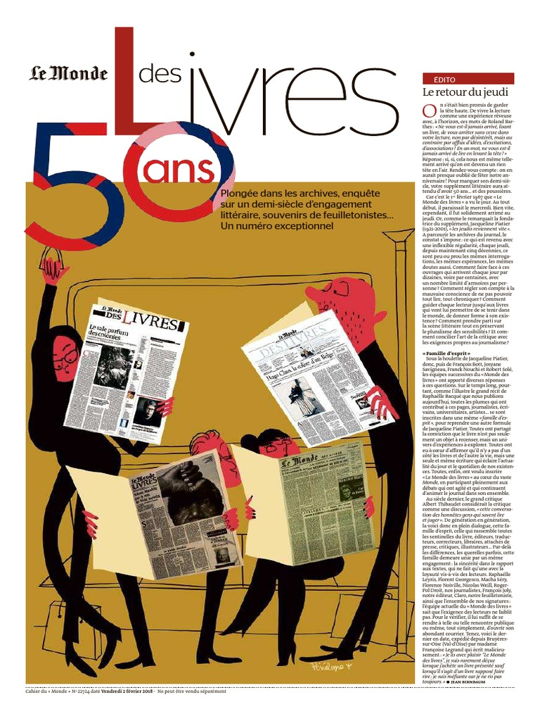 20180202 Le Monde Des Livres 50eme Aniv