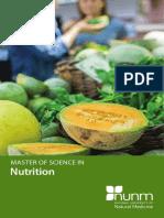 2016 Master of Science in Nutrition Program Brochure