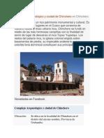Complejo Arqueológico y Ciudad de Chinchero