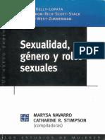 Sexualidad, Género y Roles Sexuales