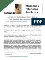 Oracion Migrantes y Refugiados 2018