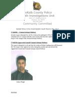 DeKalb Police Crime Arrest Bulletin South PrecinctMay 2017