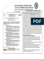 Alerta de Riesgo Agropecuario Por Lluvias y Tormentas Electricas (31 de Enero Al 02 de Febrero Del 2018)