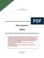 Mode Operatoire Word