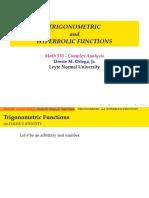 7. Trigonmetric and Hyperbolic Functions