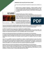 La Independencia Fue Un Acto de Fe en El Perú- m Novoa