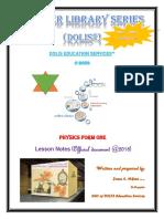Mkenye Physics Introduction to Physics Form One (Vasion 1-2018)