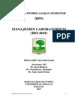RPS - Manajemen Laboratorium