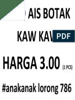MILO AIS BOTAK KAW KAW.docx