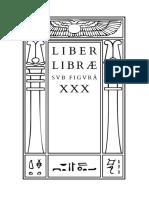 Liber Libræ sub figura XXX