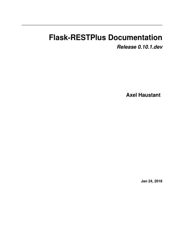 Flask Restplus | Parameter (Computer Programming) | Parsing
