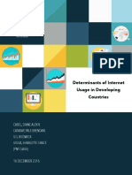 Determinants of Internet Usage in Developing Countries