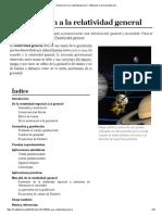 Introducción a La Relatividad General - Wikipedia