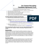 On-Campus Recruiting Candidate Agreement Form