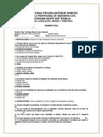 Examen final de legislacion laboral y tributaria
