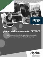Guía Para Evaluar Los Centros de Educación Técnica Productiva 2012 R-012-2012-SINEACE-P