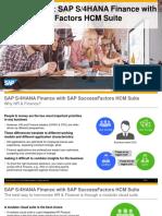 SAP S/4HANA Finance with SAP Successfactors HCM Suite