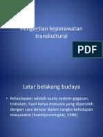 Pengertian keperawatan transkultural