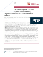 Optimized Protocol for Cryopreservation of Human Eggs