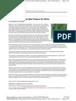 Henry Oliver Ford on New Finance for Africa