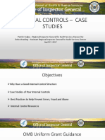 Internal Controls - Case Studies