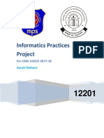 CBSE CLASS XII INFORMATICS PRACTICES READY-TO-PRINT PROJECT